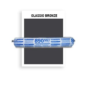 890 NST - SSG-046-Classic Bronze SSG Non-Staining, Ultra-Low Modulus Silicone Sealant-20 oz sausage