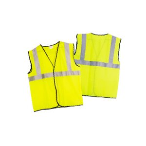 Class 2 Hi-Viz Yellow Safety Vest - Large